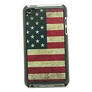 ZXSPACE Retro USA Flag Pattern Hard Case for iPod touch 4
