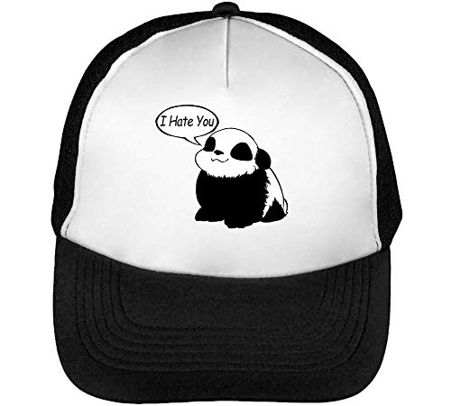 I Gorras Blanco You Snapback Hombre Graphic Says Cute Beisbol Negro Panda Hate FWYcP