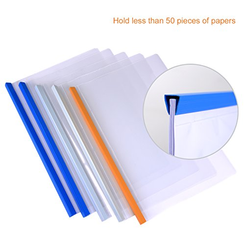 cheap shappy 10 pieces transparent file folder sliding bar report