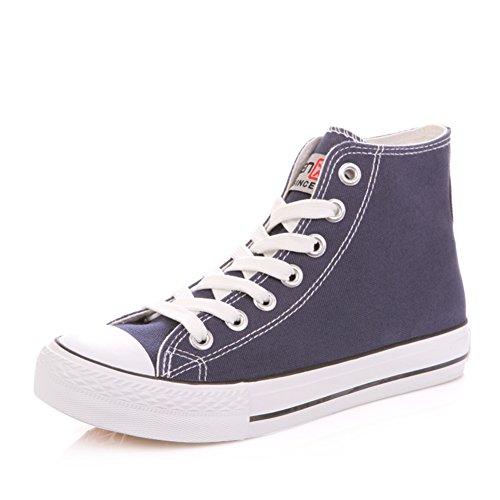 Zapatos de lona clásica de verano mujer/Alta plana casuales zapatos/Zapatos del estudiante D