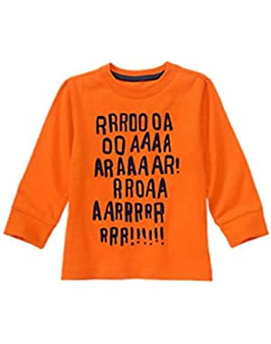Baby Boy's Tangerine Roar Shirt