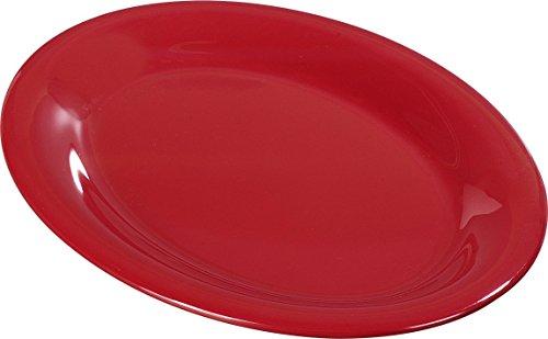 Carlisle 3308605 Sierrus Melamine Oval Serving / Dinner Platters, 9.5