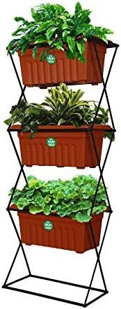 Trust Basket 3 Tier Vertical Gardening Pot Stand With 3 Rec