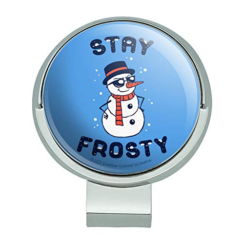 Snowman Golf Ball - GRAPHICS & MORE Stay Frosty Chill Snowman Funny Humor Golf Hat Clip with Magnetic Ball Marker