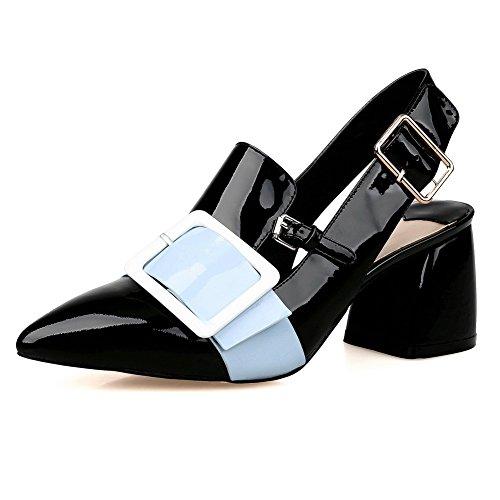 MJS01934 5 37 Femme Pour 1To9 Sandales Inconnu Noir EU wq878U