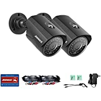 ANNKE (2) 720P Security Camera 1.0 Mega-Pixels(1280x720) In/Outdoor Fixed CCTV Bullet Cameras, Build-in 36 Infra-Red LEDs for 100FT Super Day/ Night Vision.