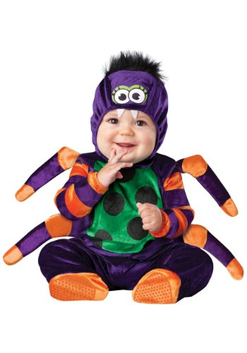 InCharacter Costumes Baby's Itsy Bitsy Spider Costume, Purple/Green/Orange/Black, (Itsy Bitsy Spider Costume Toddler)