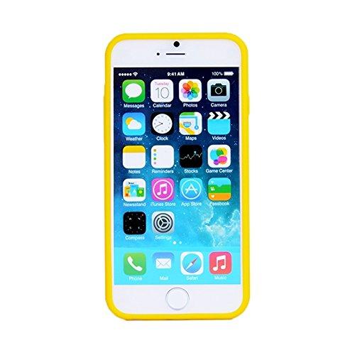 Phone Taschen & Schalen Baustein Textur Silikon Tasche für iPhone 6 Plus & 6S Plus ( Color : Yellow )