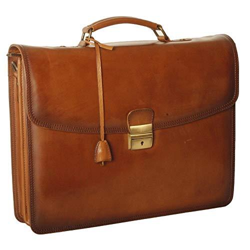 Ashwood Dorchester Orlando Leather Single Lock Briefcase Orlando ()