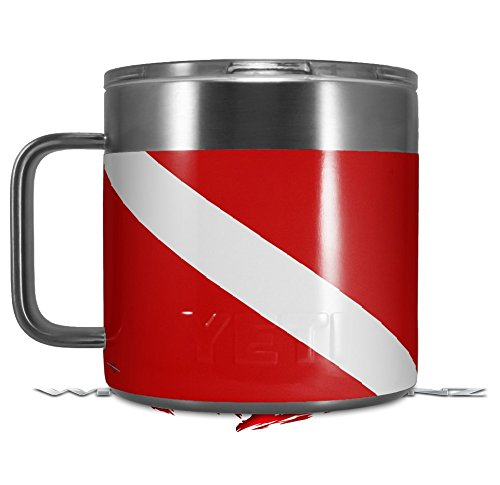 Mug Scuba Accessories - Skin Decal Wrap for Yeti Coffee Mug 14oz Dive Scuba Flag - 14 oz CUP NOT INCLUDED by WraptorSkinz
