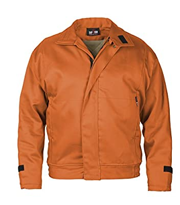 ORANGE - MEDIUM - Saf-Tech FR 9OZ INDURA INSULATED WORK JACKET WITH REMOVABLE (ZIP-IN/ZIP-OUT) 10OZ MODA QUILT LINER - HRC 4 - APTV=49.8cal/m2 - MADE IN THE U.S.A.