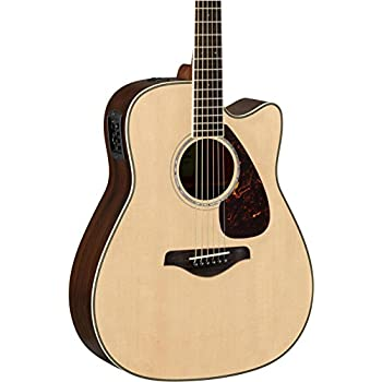 Yamaha FGX830C Solid Top Cutaway Acoustic-Electric Guitar, Natural