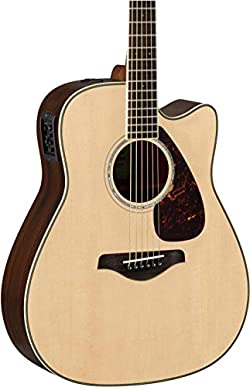 Yamaha FGX830C Solid Top Cutaway Acoustic-Electric Guitar, Natural