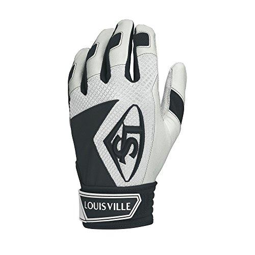 Away Adult Batting Glove - Louisville Slugger Series 7 Batting Glove, Black, Small