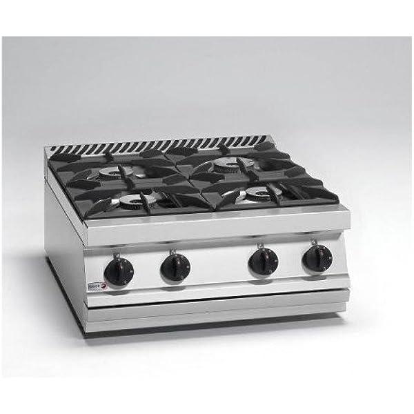 Cocina a gas 4 fuegos de sobremesa: Amazon.es: Industria ...