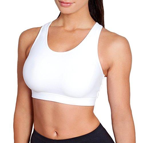 Sportjock - Soutien-gorge -  Femme -  Blanc - Blanc - 40