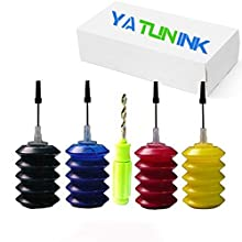 YATUNINK Premium Refill Ink Kit Replacement for HP 63 63XL Black(F6U64AN) & Color(F6U63AN) Compatible with Envy 4520 Envy 5540 Officejet 3830 Deskjet 3632 4×30ML