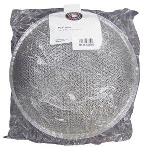 "Aluminum Round Dome Range Hood Filter -10 1/2"" Round x 3 1/4"" Rise"