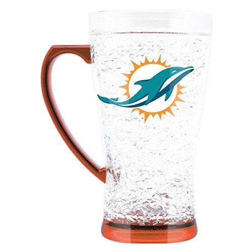 Nfl Duck - NFL Miami Dolphins 16oz Crystal Freezer Flared Mug