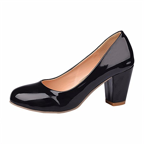 Puro Laca De los Women's Zapata Banquetes Shoes Gran Solo Alto de Zapatos Tacón de Tamaño Mujer de de de RFF black Zapatos Color Zapatos Tacón dFvO6vW