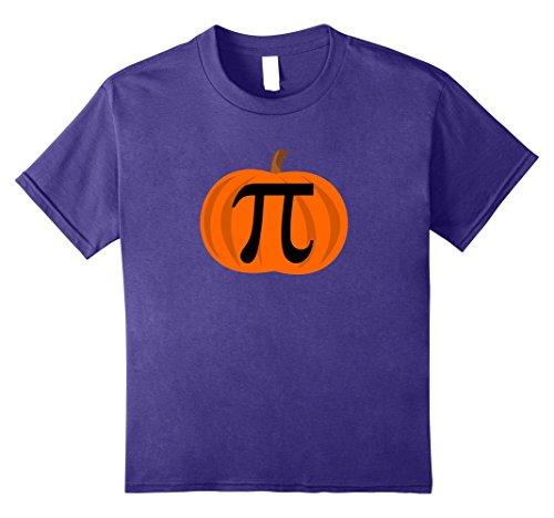 Homemade Costumes For Boys Easy (Kids Pumpkin Pi 3.14 Funny Halloween Costume Shirts 8 Purple)