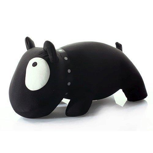 Knautschkissen Kuschelkissen mit Mikroperlen Bulldogge schwarz