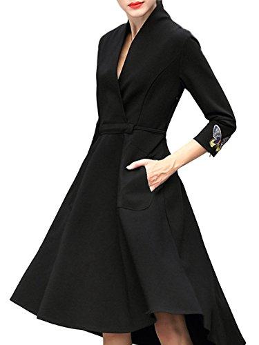 formal black dresses for funerals - 3