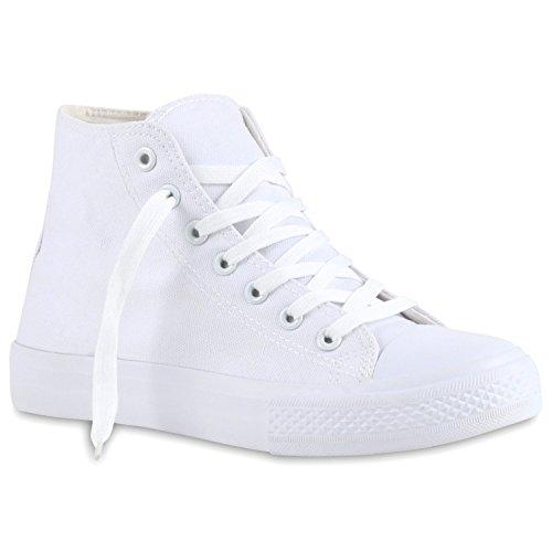 High Freizeit Schuhe Sneaker Flats Stiefelparadies Übergrößen Damen Stoffschuhe Canvas Turnschuhe Sneakers Camouflage Weiß Schnürer Denim Flandell v1BCBqw7E