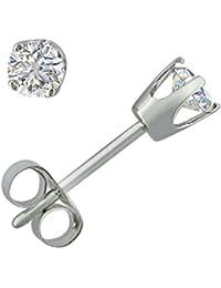 IGI Certified 1/3ct tw Round Diamond Stud Earrings in 14K White Gold