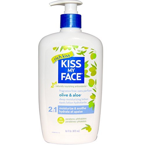 Kiss My Face Moisturizer 16oz. Pump Olive & Aloe Fragrance Free by Kiss My Face