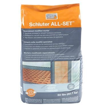 (Schluter All-Set Grey 50 lbs Bag Modified Thin-Set Mortar)