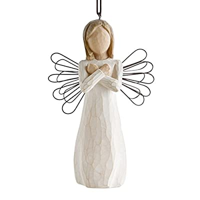 Willow Tree hand-painted sculpted Ornament, Sign for Love