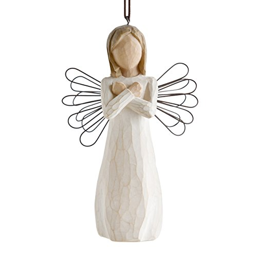 - Willow Tree hand-painted sculpted Ornament, Sign for Love