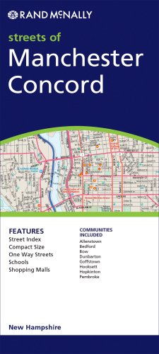 Rand McNally Streets of Manchester/ Concord, New - Hampshire Concord Map New Of