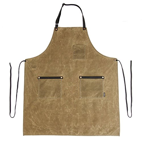 Industry Apron - Waxed Canvas - Field Tan - Made in USA by Hardmill