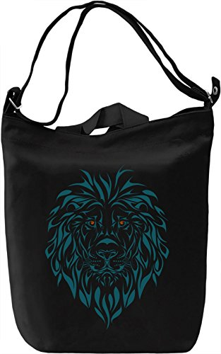 Lion Borsa Giornaliera Canvas Canvas Day Bag  100% Premium Cotton Canvas  DTG Printing 