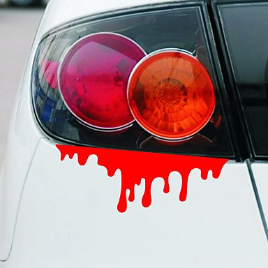 Car-Styling Drops of Blood Funny Car Stickers and Decals for Bmw e46 vw Skoda Polo Golf Renault Toyota Honda Ford Focus Fiesta (Type Bmw E46)