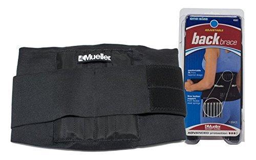 Mueller Sport Care Advanced Level Adjustable Back Brace OSFM - Buy Packs and SAVE (Pack of 6)