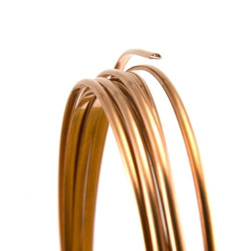 (20 Gauge Half Round Half Hard Copper Wire - 25FT)