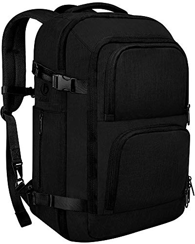 Dinictis 40L Flight Approved Carry on Travel Backpack, Weekender Bag - Black from Dinictis