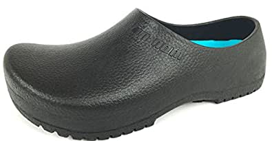 Labo Pro Reactive Men's and Women's On The Restaurant Work Slip Resistant Work Shoe | Great Nursing or Chef Shoe Black Size: 6