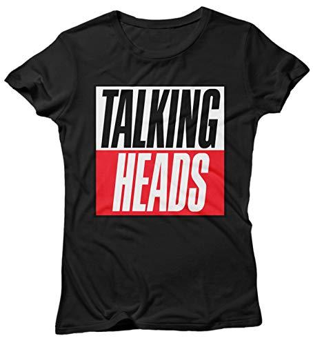 Cotone Shirt Nero Heads Stories LaMAGLIERIA Donna Talking T 100 True Logo Maglietta v5qaO