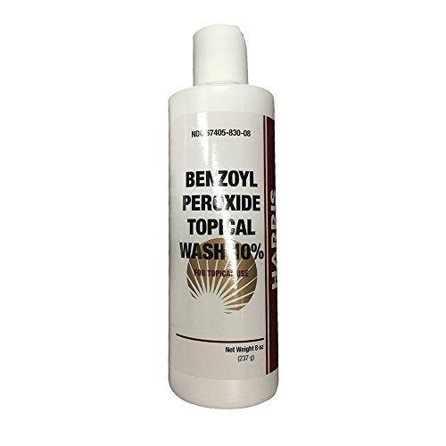 Harris Pharma 10% Benzoyl Perox Wash 8 oz (PACK OF 2) (Benzoyl Peroxide Body Wash)