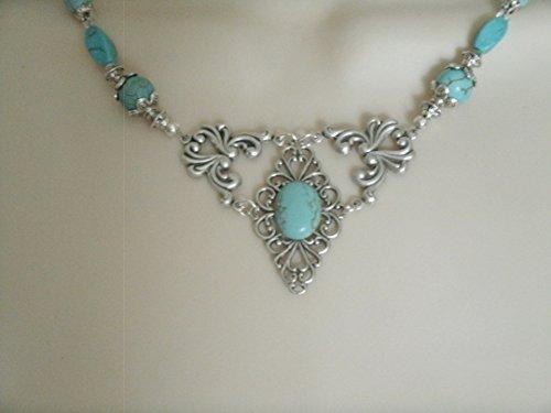 Turquoise Necklace, handmade jewelry southwestern southwest country western cowgirl wedding boho bohemian