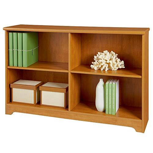 Realspace Magellan Collection 2-Shelf Sofa Bookcase, Honey Maple