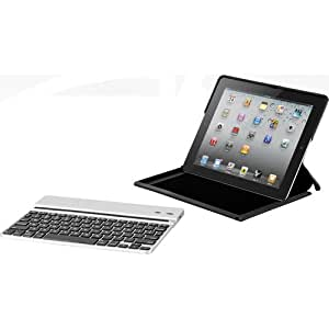 Zagg ZAGGfolio for Apple iPad 2 + Removable Bluetooth Silver Keyboard (LEACSIPAD2)