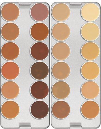 Amazon.com : Dermacolor Camouflage 24 Color Palette By Kryolan 71008 - K : Makeup Palettes : Beauty