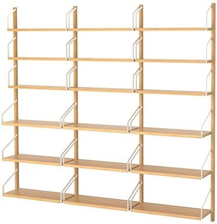 Ikea 6204.261414.1414 - Estantería de Pared (bambú): Amazon ...