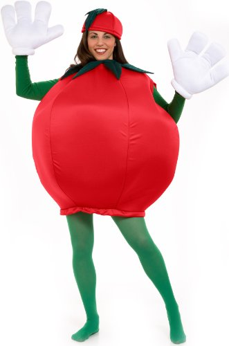 [Peter Alan Inc - Tomato Adult Costume - One-Size - Red] (Food Halloween Costumes For Adults)