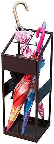 傘収納 パーソナライズされた傘ストレージフロア傘アンブレララックエントランスチャンネルラック 実用的な家庭用ギフト (色 : Black, Size : 22x22x60cm)